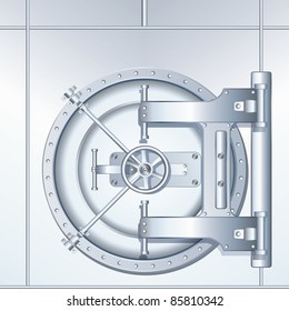 Bank Vault Door, detailed vector illustration