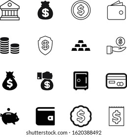 bank vector icon set such as: cost, coins, rounded, investing, password, button, charity, protect, office, winner, win, making, one, style, invoice, bullion, logistic, objects, medal, architectural
