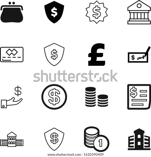 Bank Vector Icon Set Such Receipt Stock Vector Royalty Free 1620390409