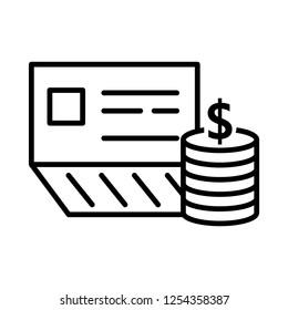 bankbook icon, vector