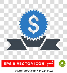 Banking Award vector icon. Image style is a flat smooth blue iconic symbol.