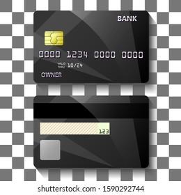 banking card creative template design. vector illustration.