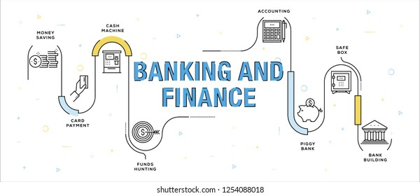 BANKING AND FINANCE INFOGRAPHIC CONCEPT