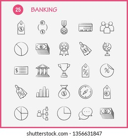 Banking Hand Drawn Icon for Web, Print and Mobile UX/UI Kit. Such as: Achievement, Award, First, Medal, Prize, Achievement, Award, First, Pictogram Pack. - Vector