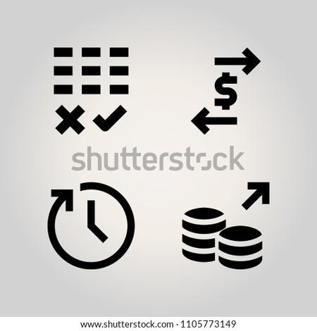 Banking Icon Set Finance Security Executive Stock Vector (Royalty