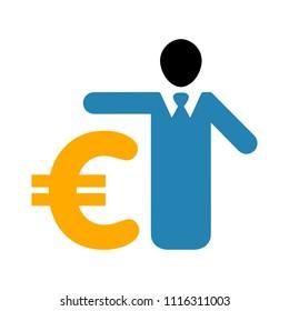 banking loan, money loans - piggy icon - finance and economy symbol