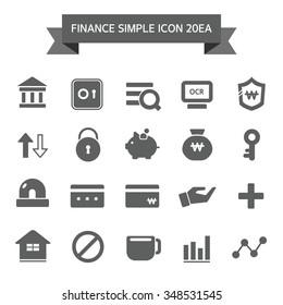 Banking Simple Icon Set