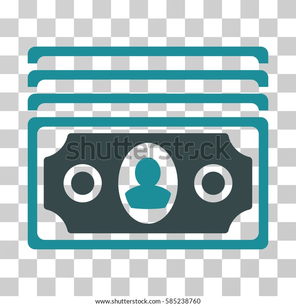 Banknotes icon. Vector illustration style is flat iconic bicolor symbol, soft blue colors, transparent background. Designed for web and software interfaces.