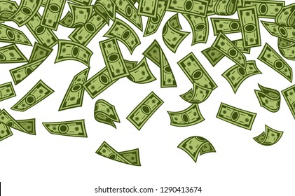 banknotes rain vector illustration (money falling)