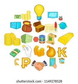 Bankroll icons set. Cartoon set of 25 bankroll vector icons for web isolated on white background