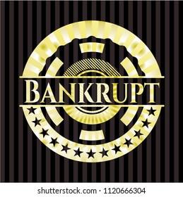 Bankrupt golden emblem