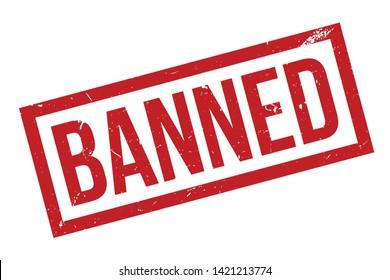 Banned rubber stamp. Red Banned rubber grunge stamp vector illustration - Vector