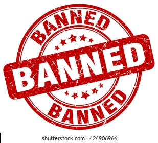 banned. stamp