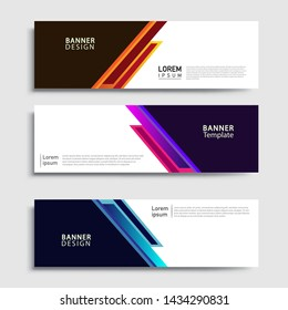 Banner abstract geometric design banner web template and business background template.