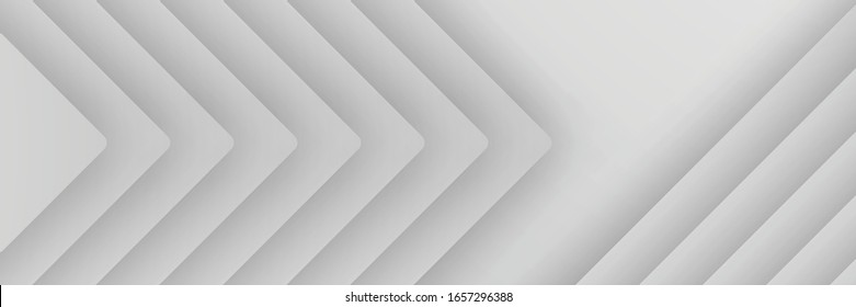 banner Abstract geometric white and gray color background vector illustration.
