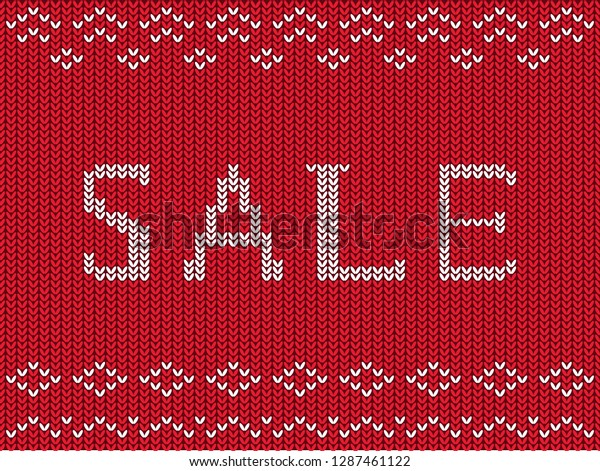 Banner Advertising Sales Clothes Winter Sweaters Stock