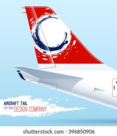 Banner with aircraft tail for your design.