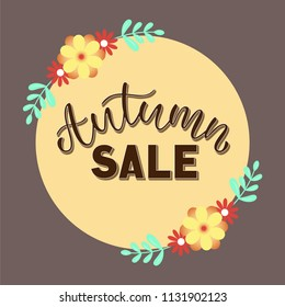 Banner Autumn Sale. Special seasonal offer.Vector illustration.