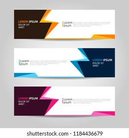 Banner background design. modern abstract template.