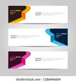 Banner background design. modern abstract template