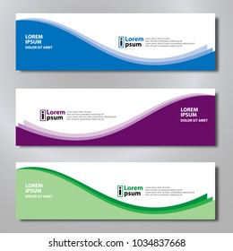 Banner background modern template, abstract design