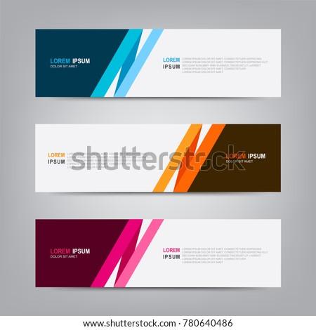 banner background modern template vector design のベクター画像素材