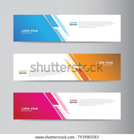 Banner Background Modern Template Vector Design Image Vectorielle De