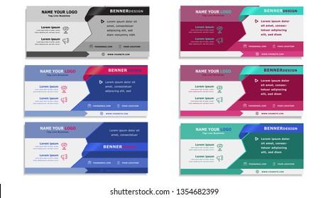 Banner background. Modern web template design