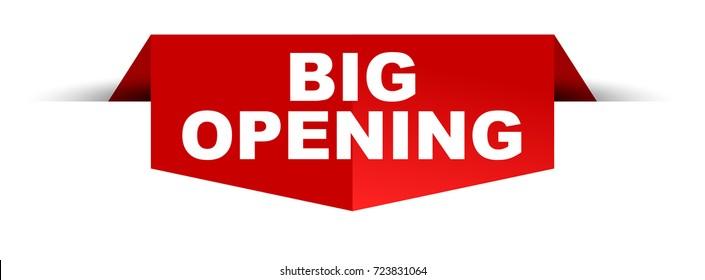 banner big opening