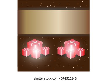 banner with boxes on a dark background