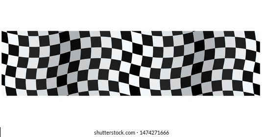Banner Checkered flag isolated on a white background