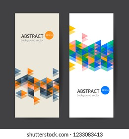 Banner Colorful Dynamic Abstract. Vector illustration.