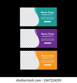 Banner design. Abstract poster vector. Facebook cover. Green banner. Gym banner