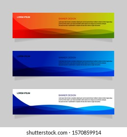 Banner design abstract template vector