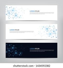 banner design technology, vector illustration