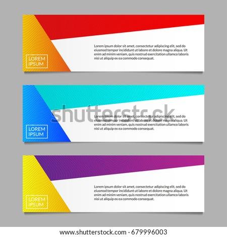 banner design template set modern horizontal stock vector royalty
