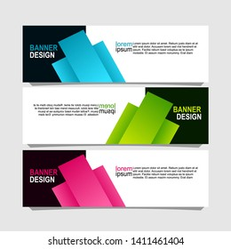 banner design with three choices of color variations,can be use for, landing page, website, mobile app, poster, flyer, coupon, gift card, smartphone template, web design