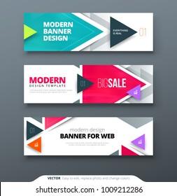 Banner design vector abstract geometric design banner web template.