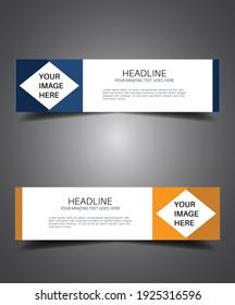 Banner Design, Web banner Graphic design Advertising. vector design web banner design.