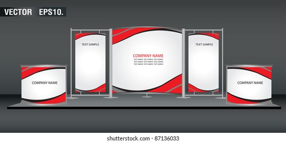banner display stands advertising and promotion counter. with identity background ready for use. Vector template for design work