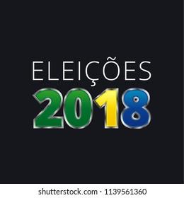 Banner Emblem Brazil Vote Campaign illustration - Elections Brazil - Elections 2018
