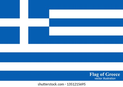 Banner with flag of Greece. Colorful illustration with flag for web design.