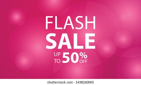 banner flash sale design. shopping background abstract template design, clearance discount 50% off
