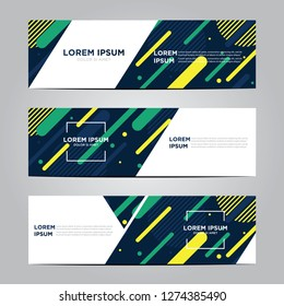 banner with flat geometric pattern. Cool colorful backgrounds. Modern vector template. Eps 10