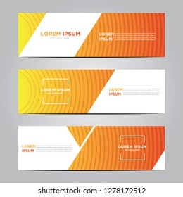 banner with flat geometric pattern. Modern vector template. Eps 10