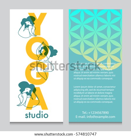 banner flyer template yoga retreat yoga stock vector royalty free