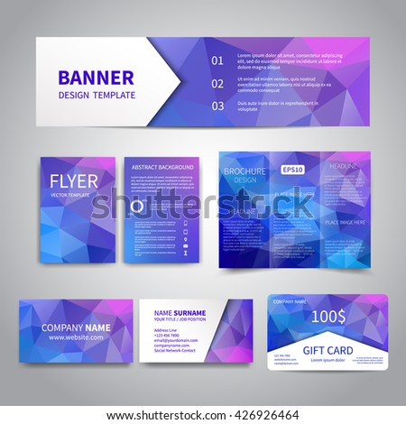 Banner Flyers Brochure Business Cards Gift Stock Vector Royalty