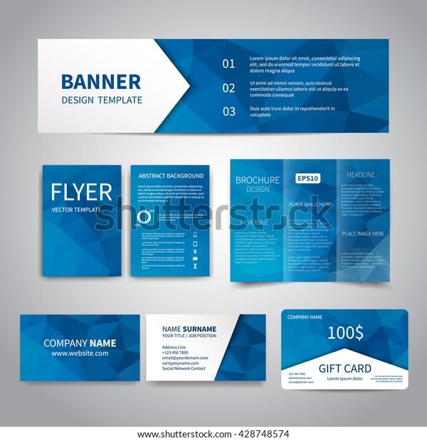 Banner Flyer Visitenkarten Geschenkkarten Designvorlagen Mit