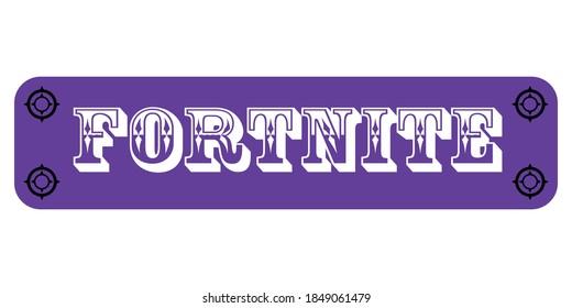 Banner fortnite game for presentation background