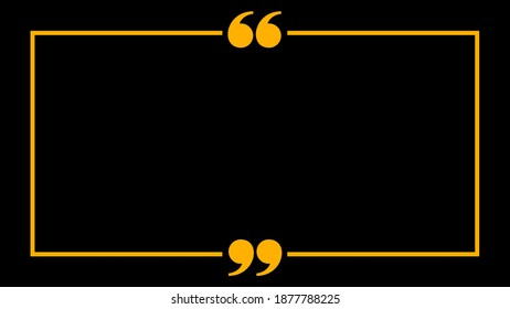 banner frame with quotation mark comma sign for background, copy space